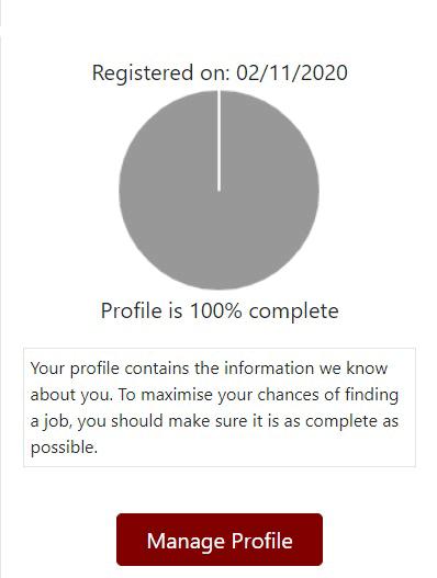 Manage Profile Dashboard Widget