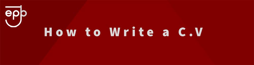 Enter Jobs - how to write a CV banner