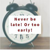 Never Be Late Image