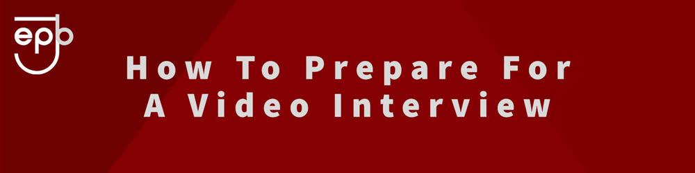 Enter-Jobs Preparing for a video interview Banner
