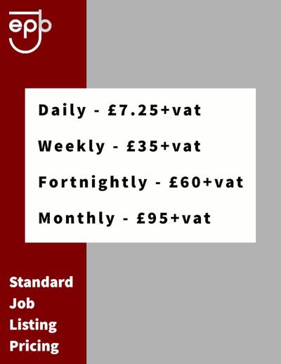 Standard Pricing Details